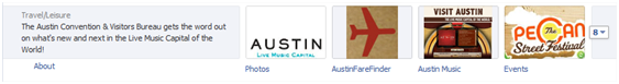 Facebook Apps Austin CVB