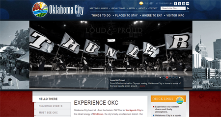 OKC website header