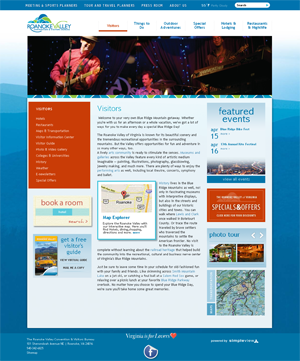 Roanoke Valley visitors page - new