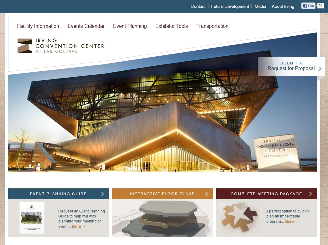 Irving Convention Center Site Design - March 2012