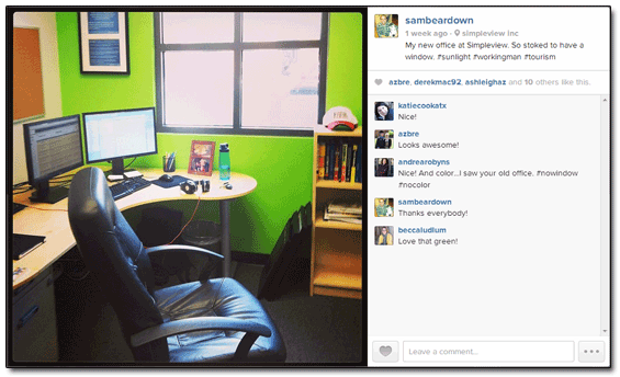 Instagram Sam Brace Office