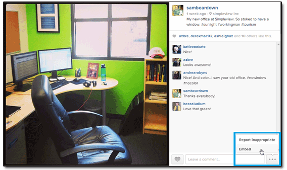 Instagram Sam Brace Office Embed