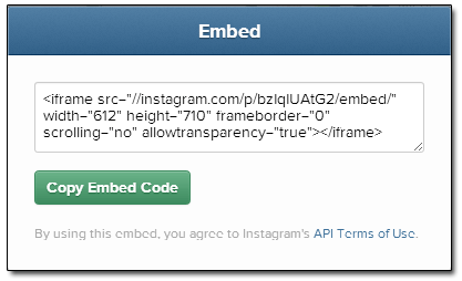 Instagram Sam Brace Office Embed Code