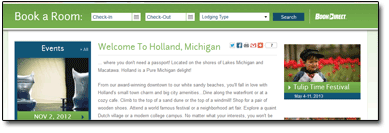 Holland 2012 Booking Engine