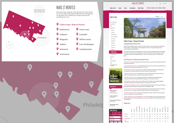 Valley Forge CVB Interactive Map