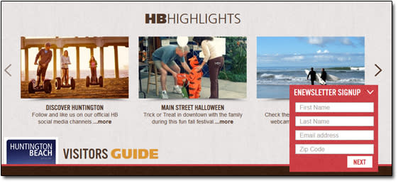 Huntington Beach Visitor and ENewsletter