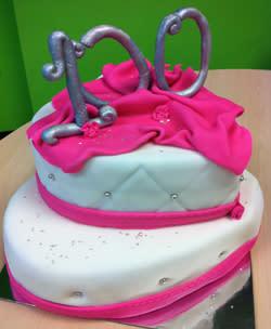 100th employee cake