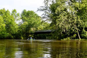 The nature of the Elkhart River is changing constantly with the seasons. (Photo by Marshall V. King)