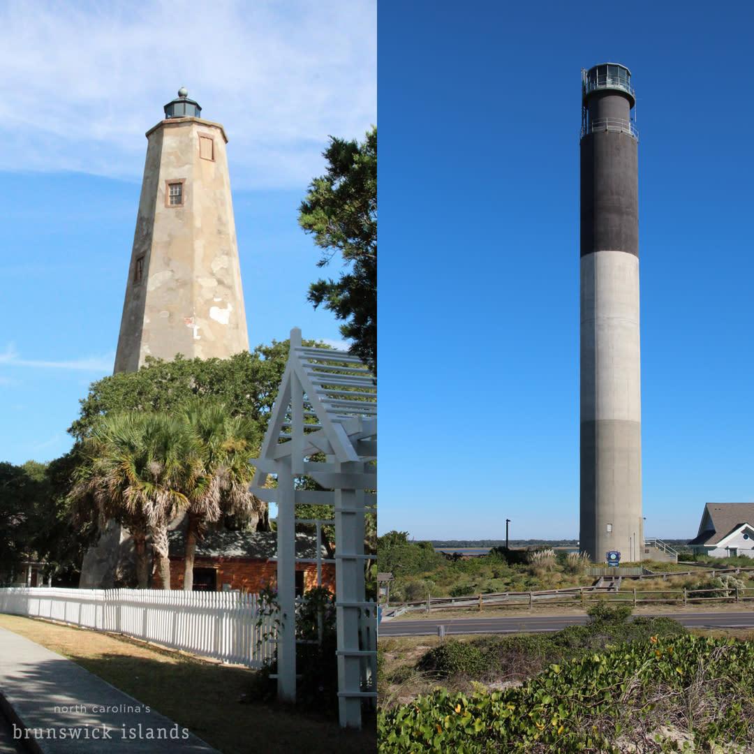 Old Baldy and Oak Island Lighthouse