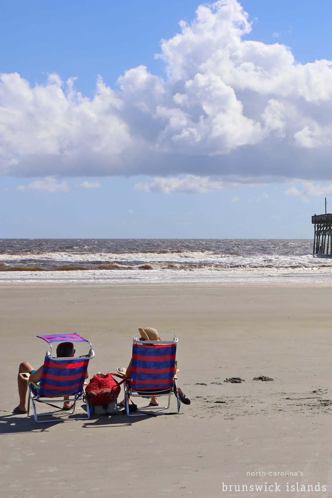 relaxing beach chairs