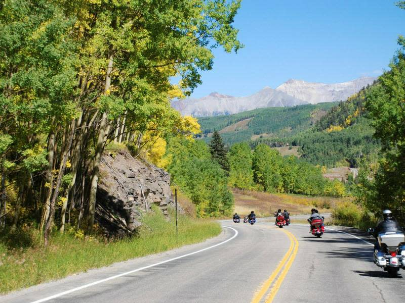 Motorcycle Ride on the Million Dollar Highway