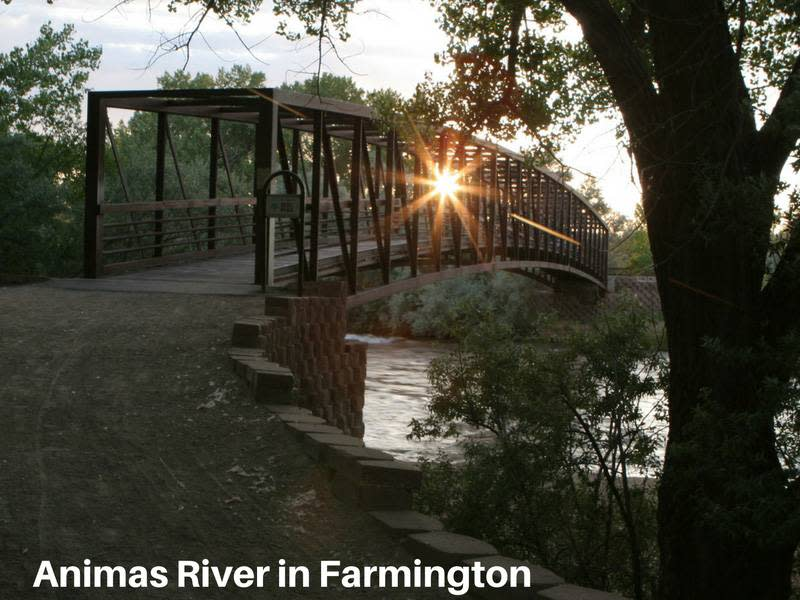 Animas River in Farmington New Mexico