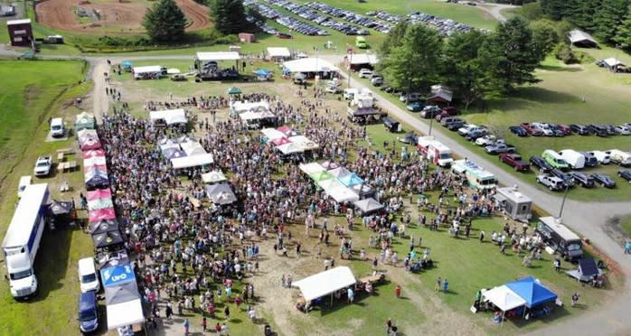 Aerial photo of the High Country Beer Fest
