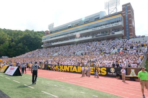Mountaineer Football in Kidd-Brewer Stadium