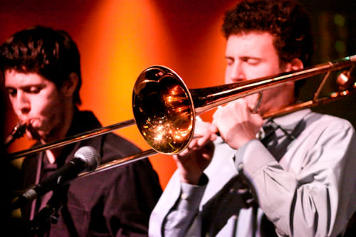 two horn players in the band Soul Benefactor