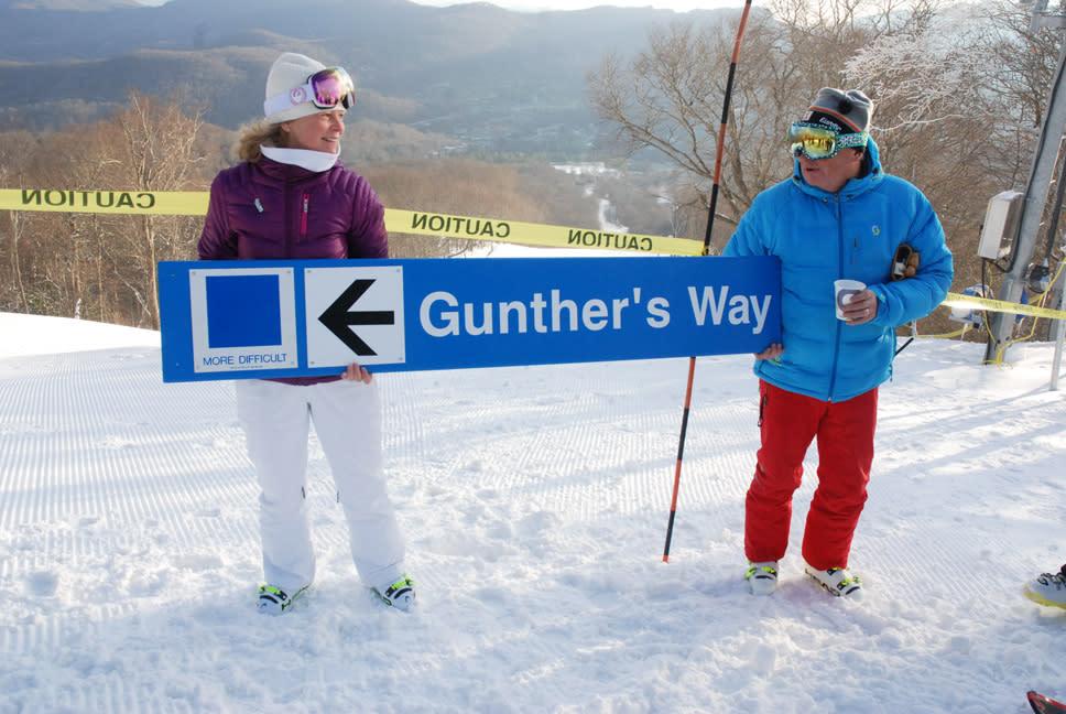 Gunther and Kim Jochl at Ribbon Cutting of Gunther's Way in 2014