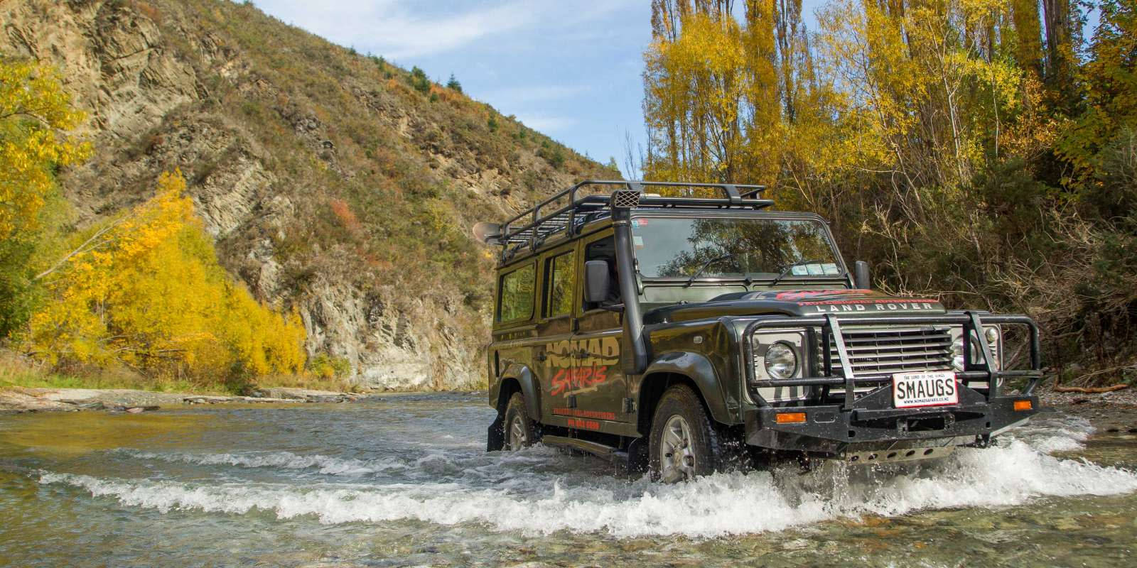 Nomad 4WD Safaris river crossing