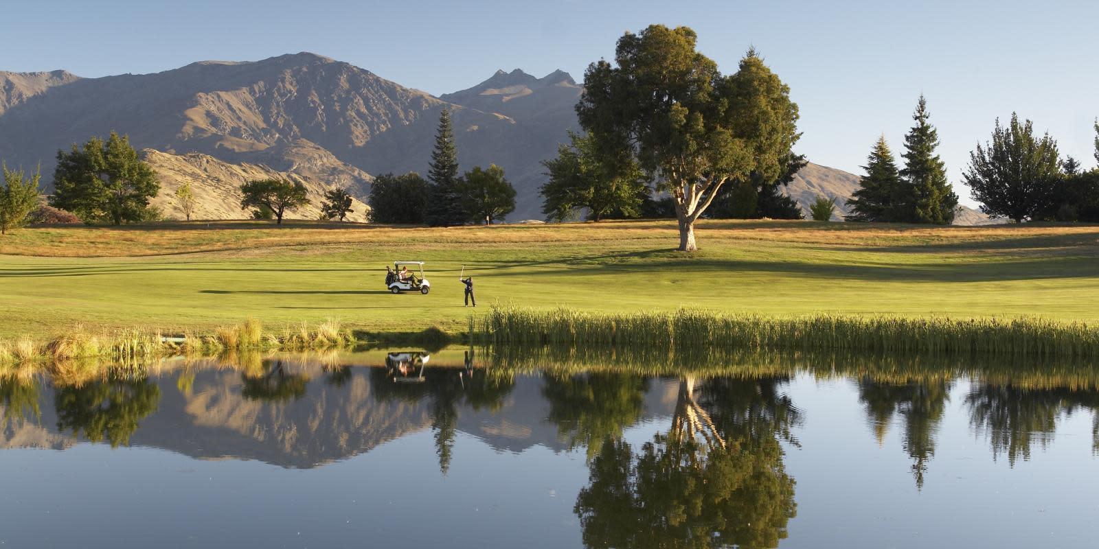 Golfing at Millbrook Resort