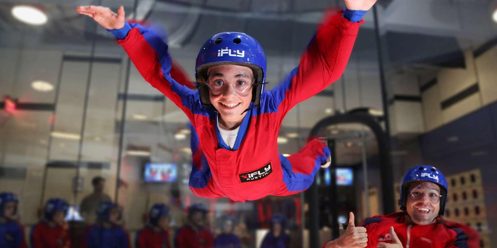 Kids fun at iFly indoor skydiving