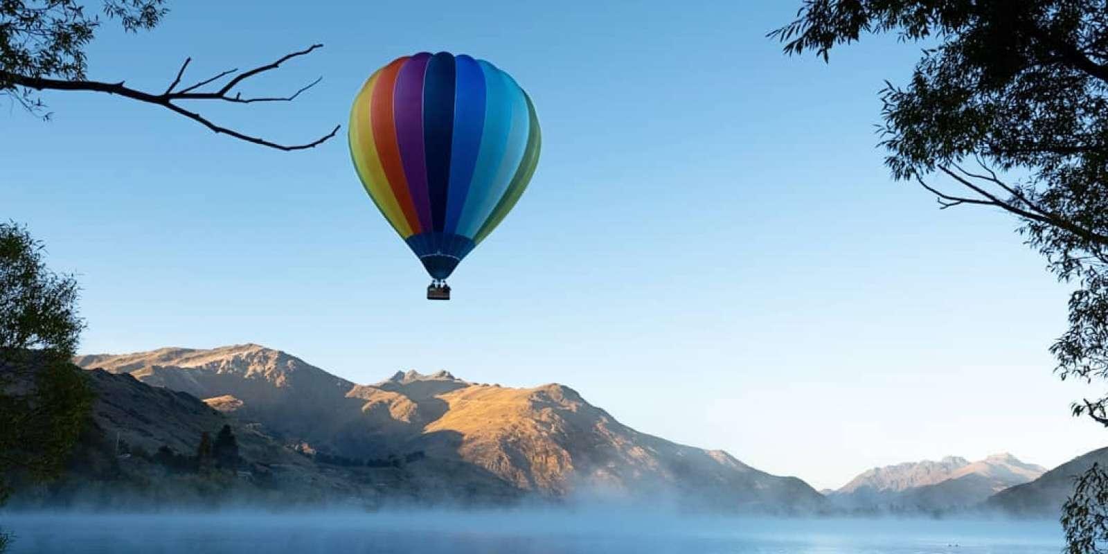 Hot Air Balloon over Lake Hayes