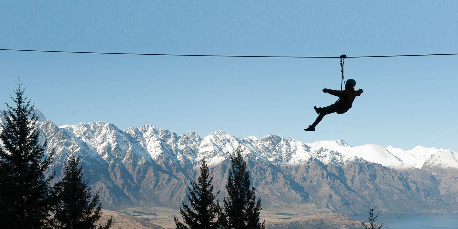 Ziptrek Ecotours Queenstown Winter Silhouette