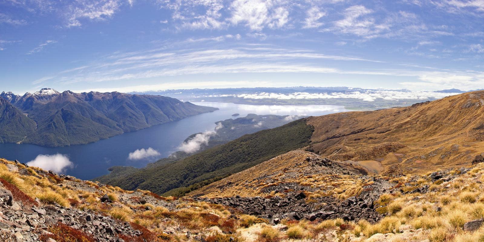 Kepler Track lookout, New Zealand Great Walk from Queenstown