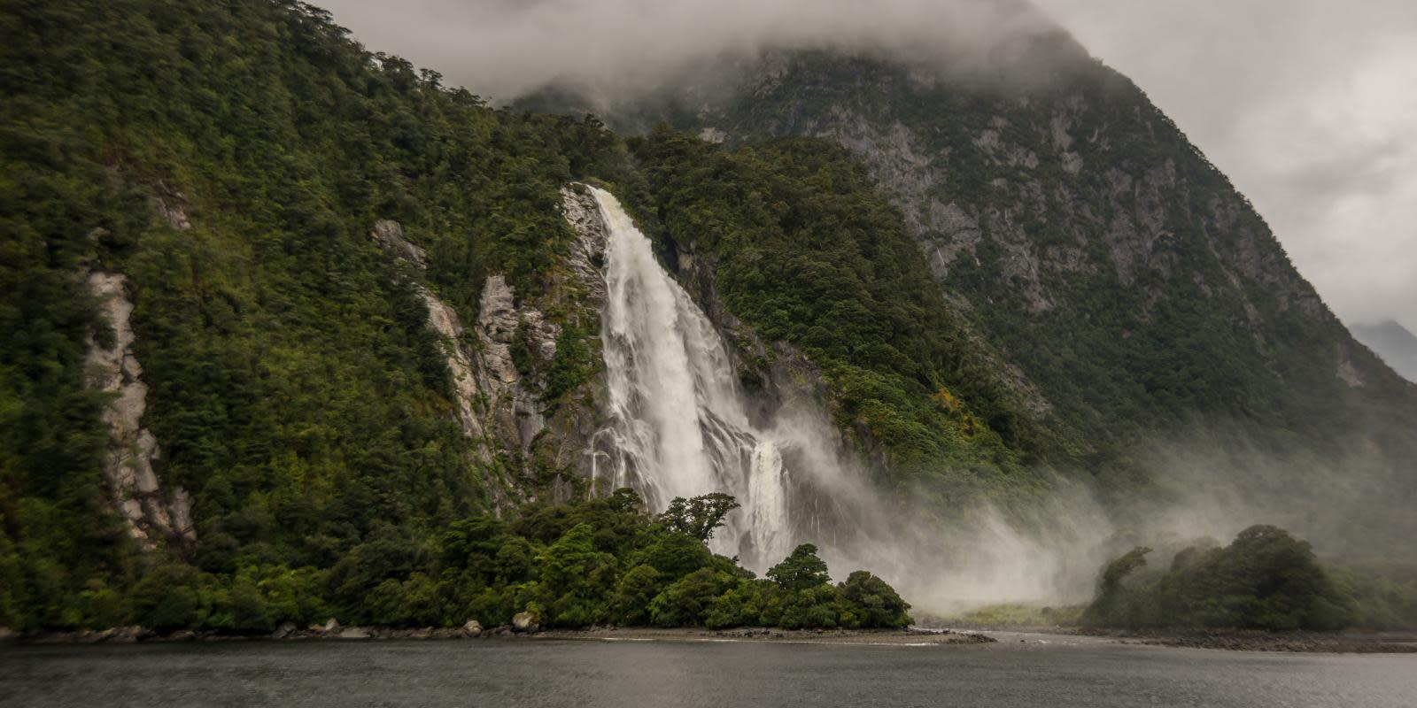 Milford Sound on a Rainy Day