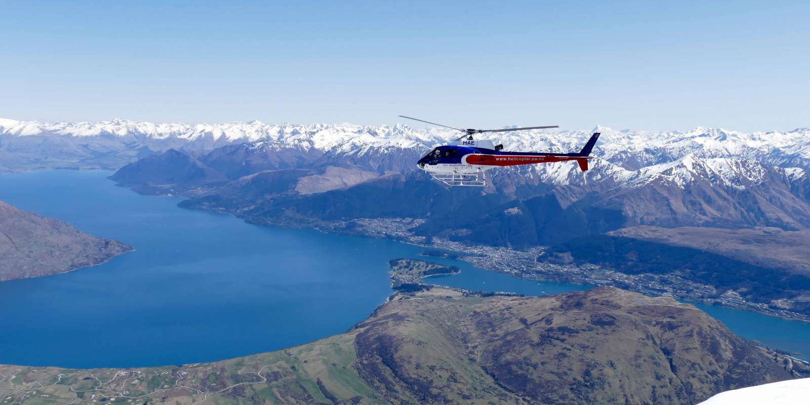 Heli scenic flight over Queenstown with The Helicopter Line