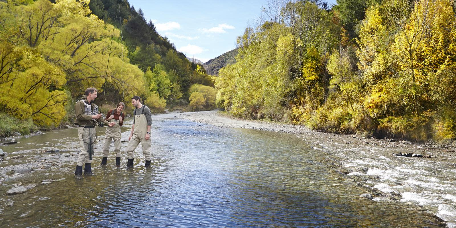 Fishing the Arrow River in Arrowtown