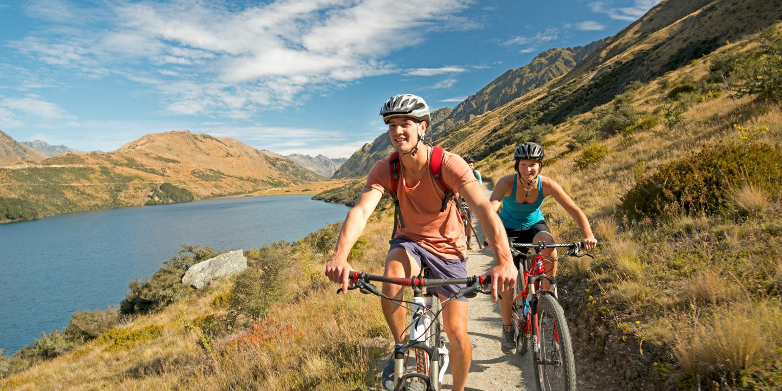 Biking at Moke Lake queenstown