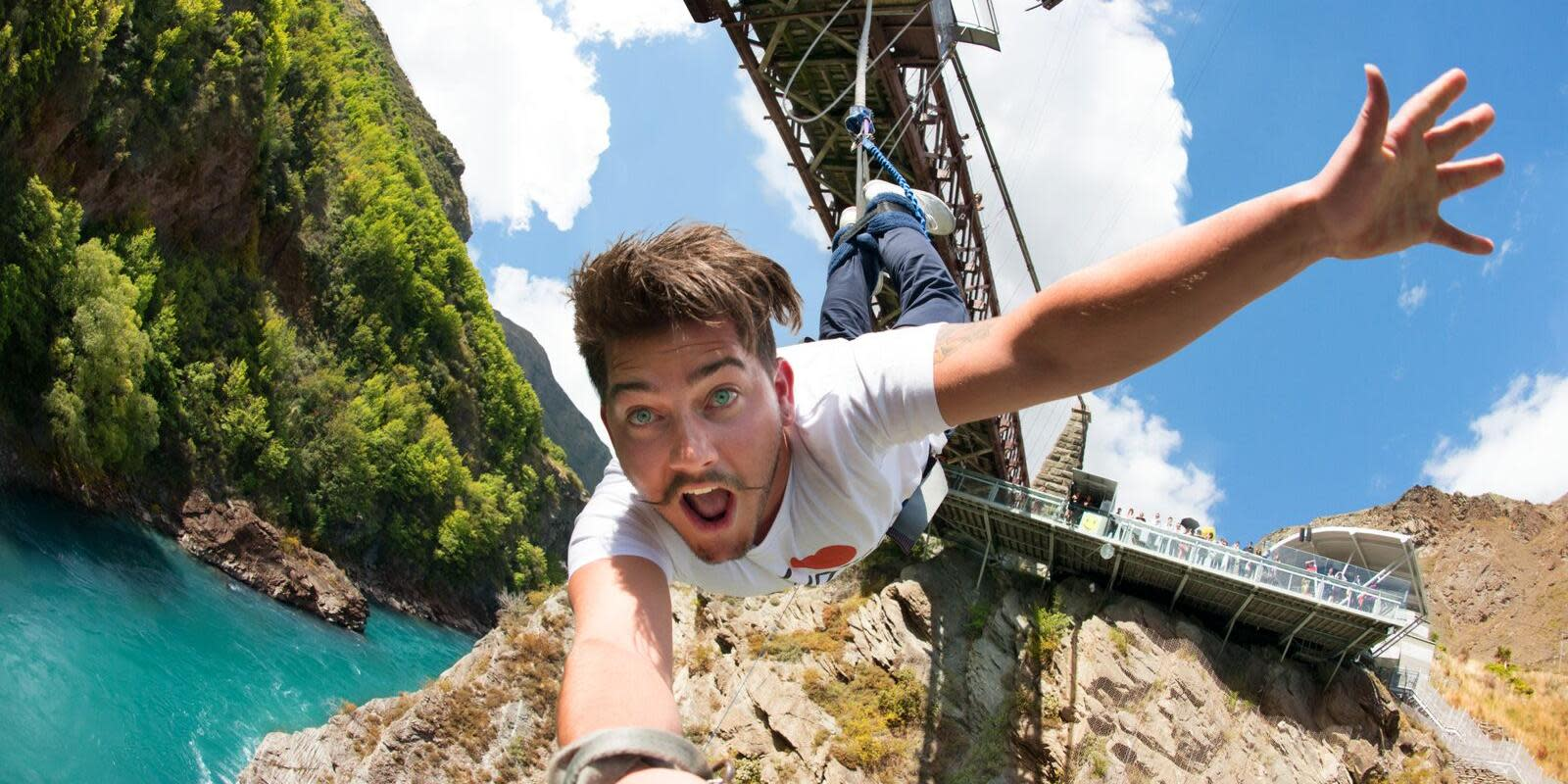 bungy, canyon swing, skydive Queenstown stag do