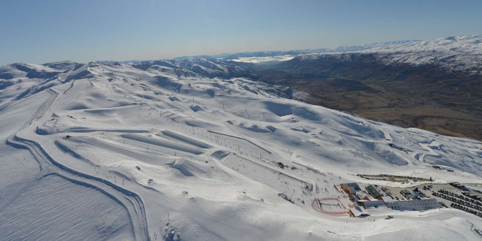 Cardrona Alpine Resort Aerial View Above Base
