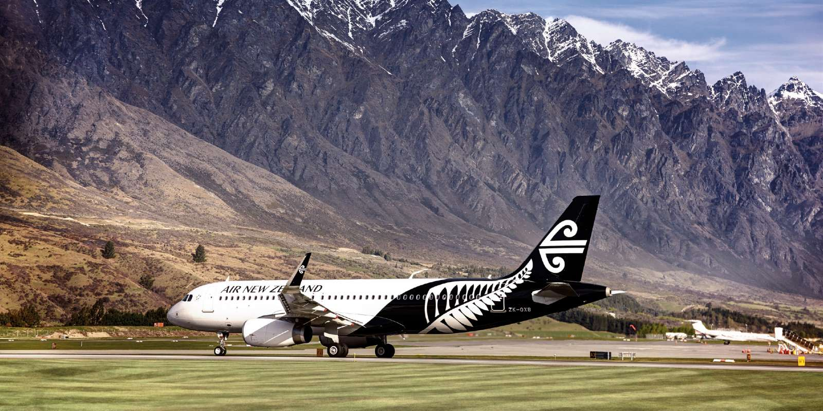 Plane at Queenstown Airport