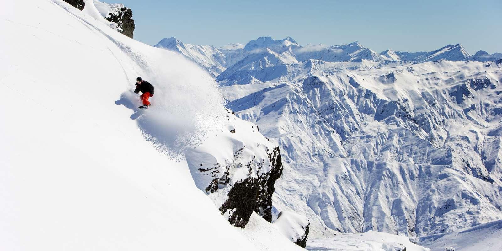 Snowboarding at Cardrona