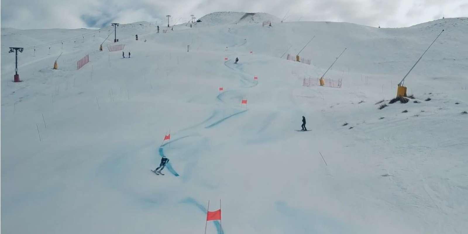 Training on Coronet Peak