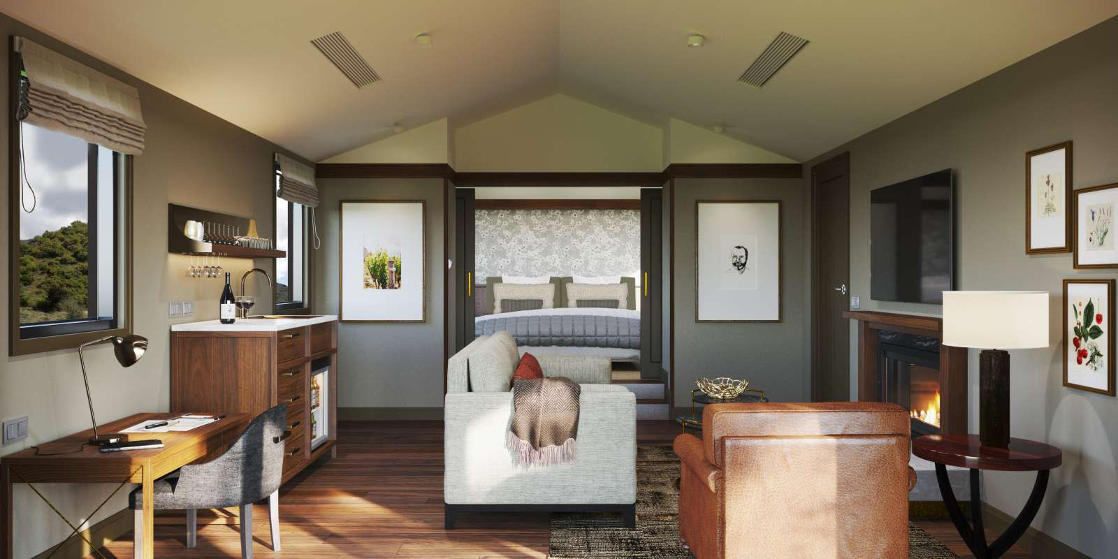 Gibbston Valley Lodge and Spa Villa Render