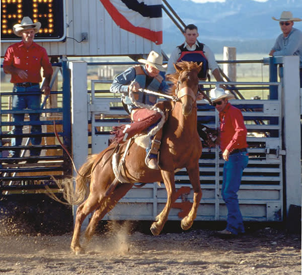 Rodeo events in Bryce Canyon Country draw great  numbers of spectators.