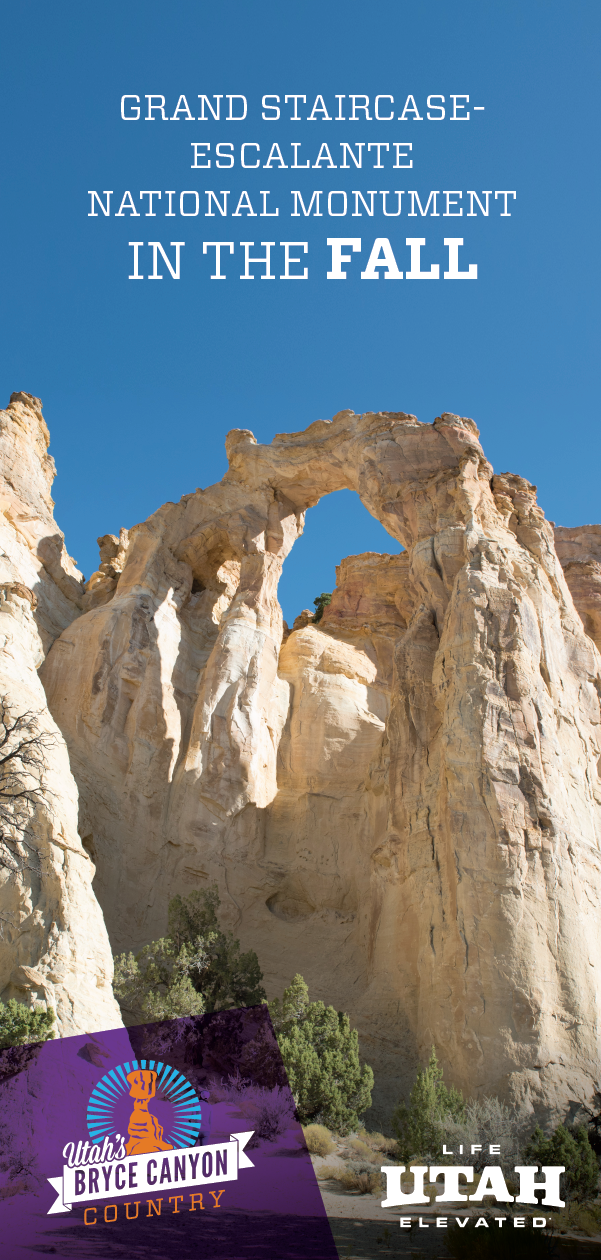 As fall arrives and leaves change colors, Grand Staircase Escalante National Monument enters a new level of stunning.