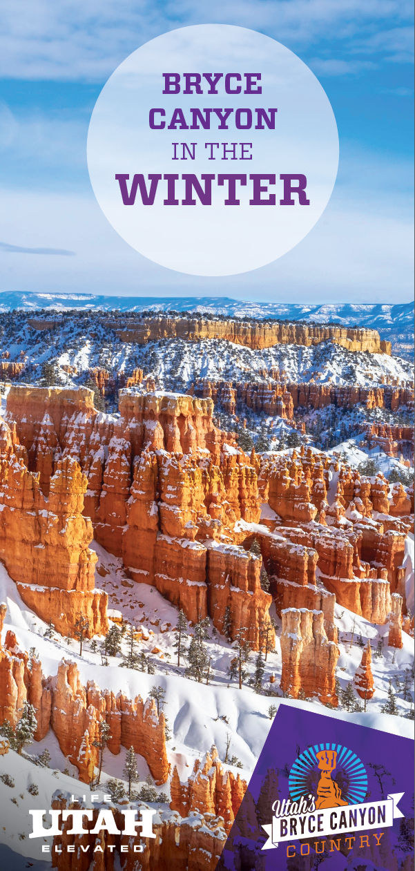 Bryce Canyon National Park is perfect in the winter with the glimmering snow on the hoodoos, spires and canyon amphitheater.
