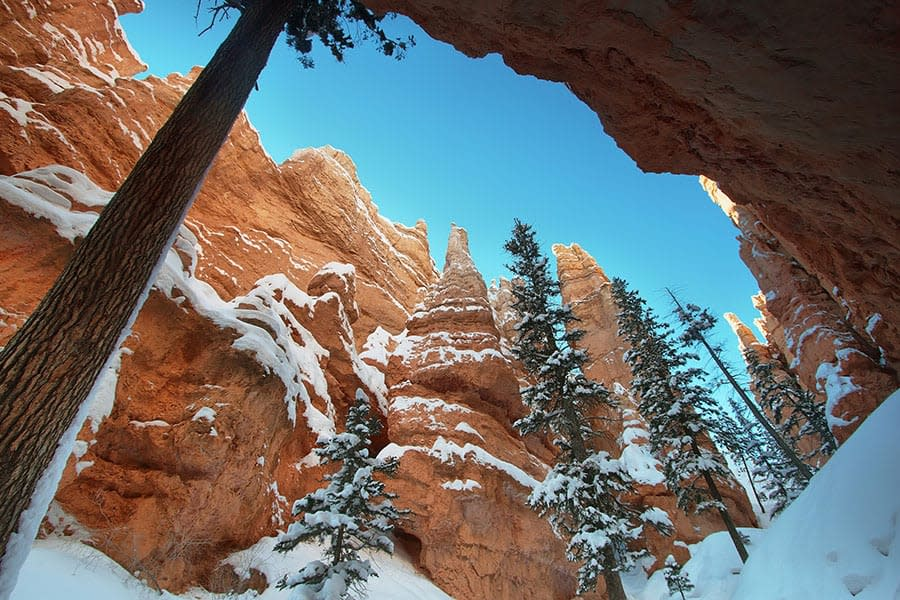 Snow and Winter in Bryce Canyon National Park