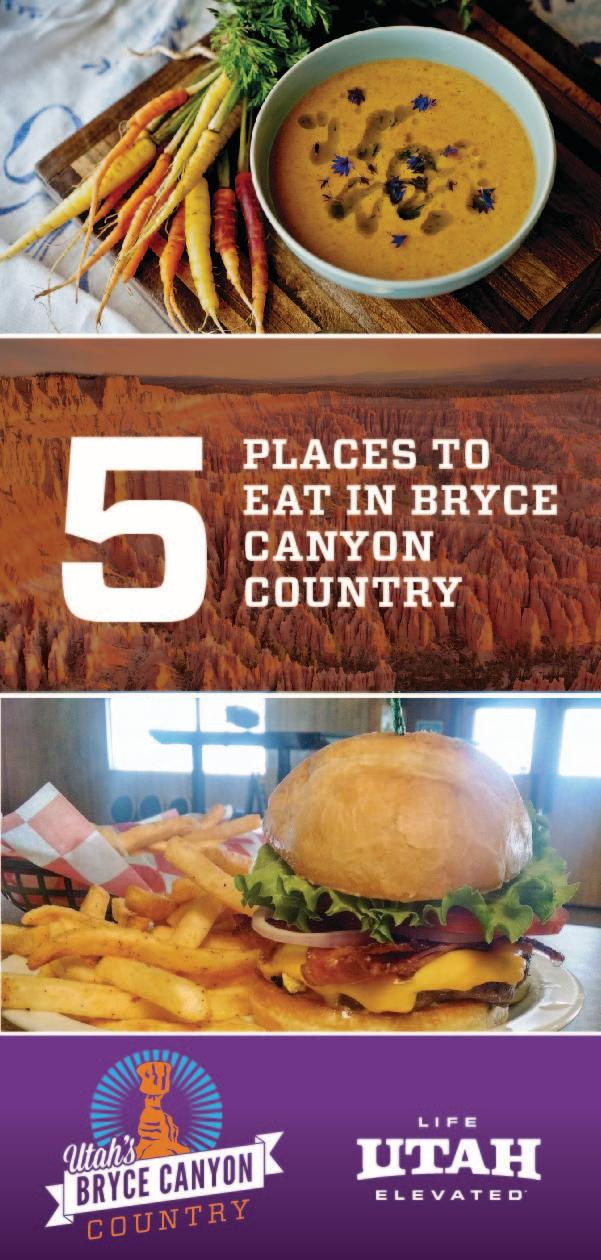 Bryce Canyon Country has delicious food offerings to satisfy any craving, from local coffee shops, cafes and restaurants.