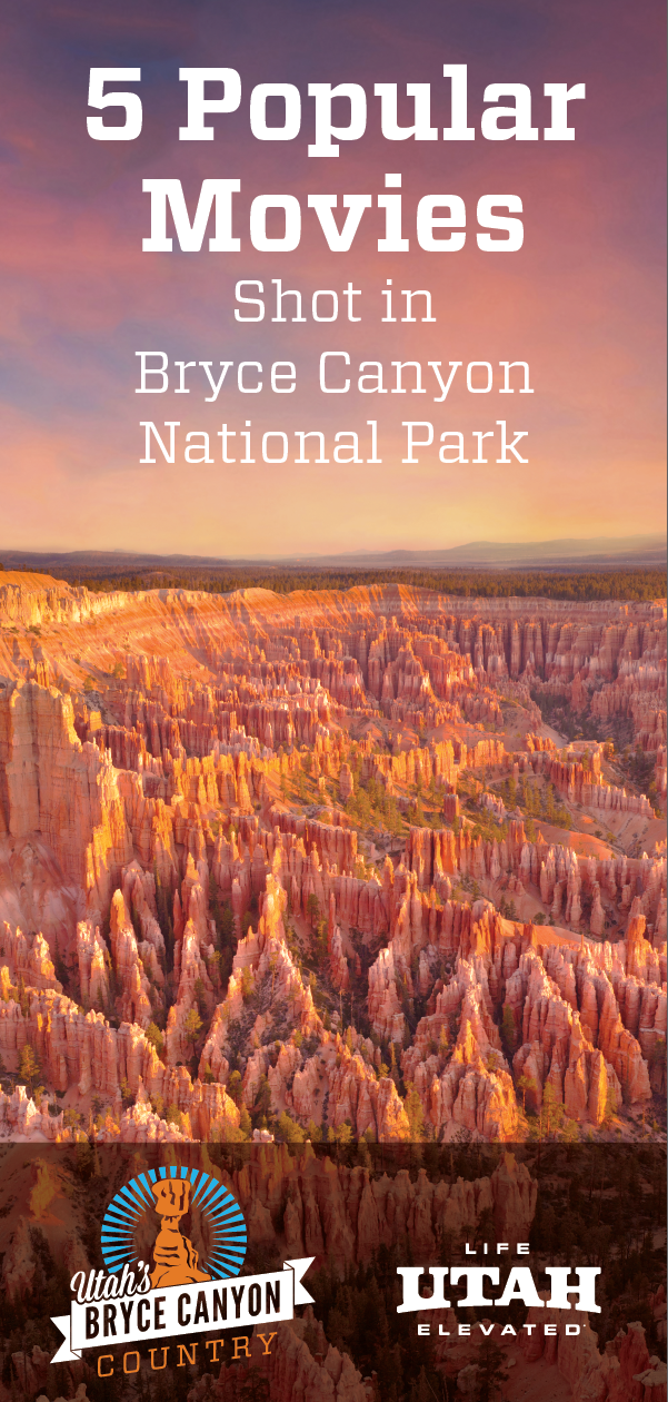 Step onto a movie set, when you visit Bryce Canyon National Park. Picturesque landscapes create perfect Hollywood backdrops.
