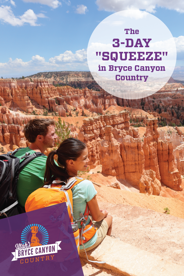 The perfect weekend 3-day squeeze itinerary lets you enjoy trails in Bryce Canyon National Park and Slot Canyons.