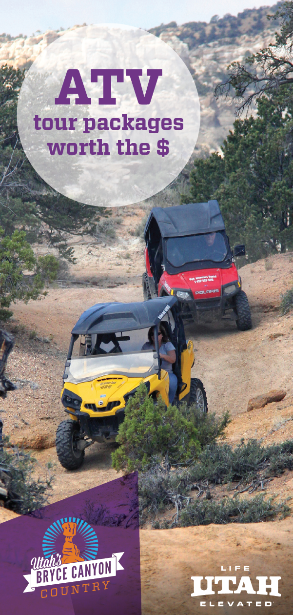 Drive through stunning Bryce Canyon Country on an ATV tour. Explore surrounding areas on your own or with a guide.