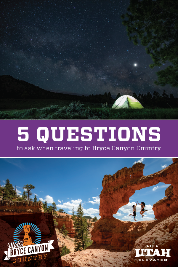 Answers to your questions about Bryce Canyon Country and Bryce Canyon National Park.
