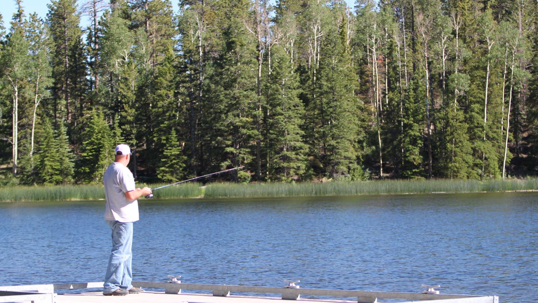 Fishing on Utah's Posey Lake