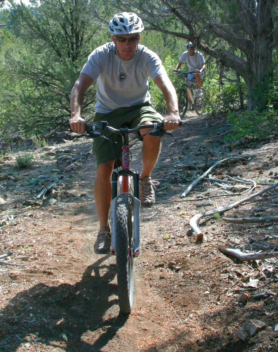 Mountain Biking in a Utah Forest