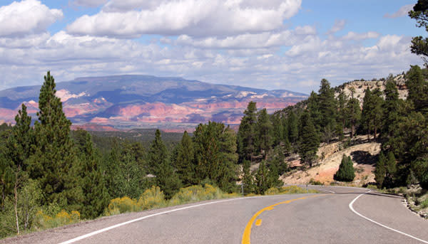 Scenic Byway 12 leads from the town of Boulder, Utah and flows north toward Capitol Reef National Park.