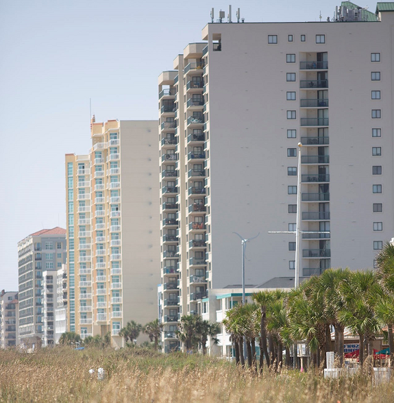 Condo building in North Myrtle Beach.