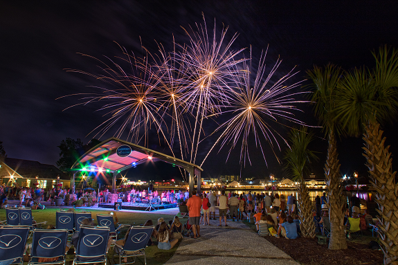 Fireworks at Barefoot Landing.